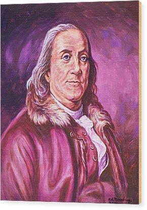Benjamin Franklin Wood Print by Ed Breeding