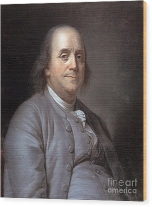 Benjamin Franklin Wood Print by Granger