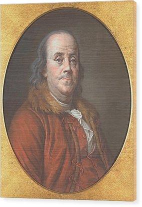 Benjamin Franklin Wood Print by Jean Valade