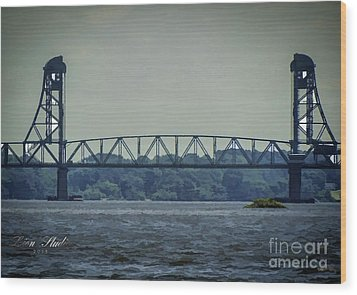 Benjamin Harrison Memorial Draw Bridge Wood Print by Melissa Messick