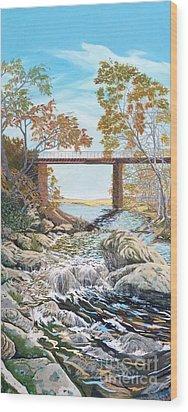 Bennington Riverbed Wood Print