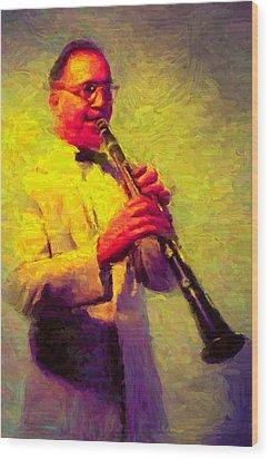 Benny Goodman Wood Print by Caito Junqueira