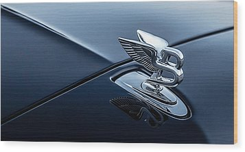 Wood Print featuring the digital art Bentley Flying B by Douglas Pittman
