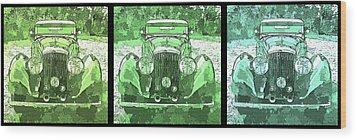 Bentley Green Pop Art Triple Wood Print