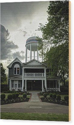 Wood Print featuring the photograph Bentonville Arkansas Water Tower by Gregory Ballos