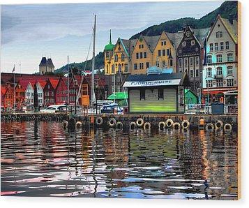 Bergen Colors Wood Print by Jim Hill
