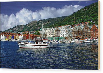 Bergen - Norway Wood Print