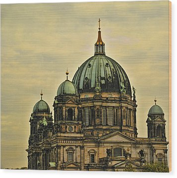 Berlin Architecture Wood Print by Jon Berghoff