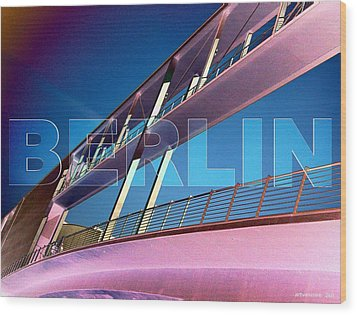 Berlin Bridge At The Reichstagsufer Wood Print by Lars Van Core