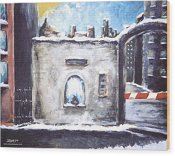 Berlin Gate No.2 Wood Print by James Sayer