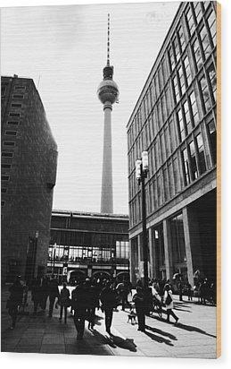 Berlin Street Photography Wood Print by Falko Follert