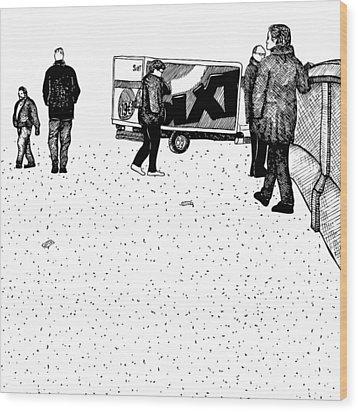 Berlin Streets Wood Print by Karl Addison