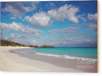 Bermuda Beach Wood Print by Charline Xia