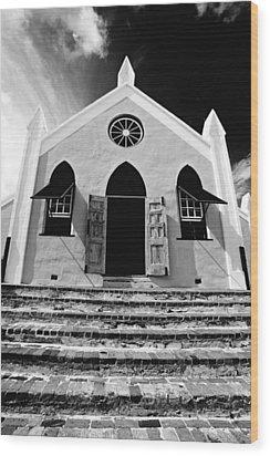 Bermuda Church Wood Print by George Oze