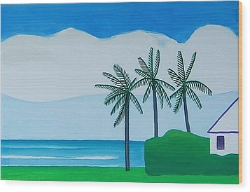 Wood Print featuring the painting Bermuda Variations  by Dick Sauer
