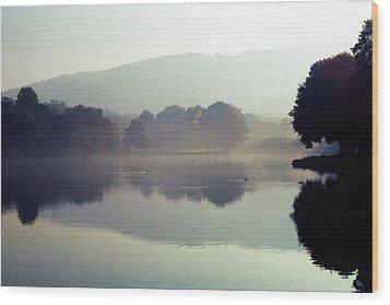 Bernharts Dam Fog 020 Wood Print by Scott McAllister