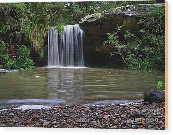 Wood Print featuring the photograph Berowra Waterfall by Werner Padarin
