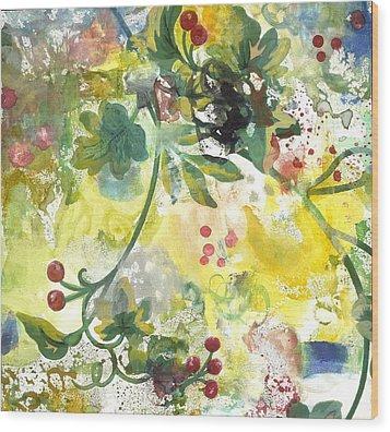Berries Wood Print by Gloria Von Sperling