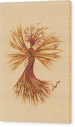 Berry Beads Wood Print by Dawn Fairies