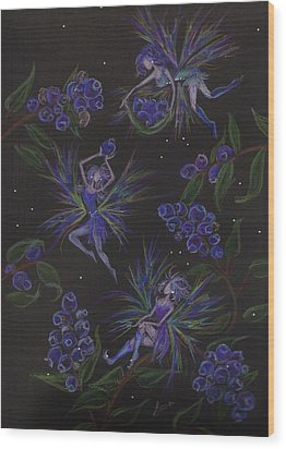 Berry Blues Wood Print by Dawn Fairies