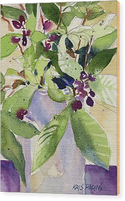 Wood Print featuring the painting Berry Bouquet by Kris Parins