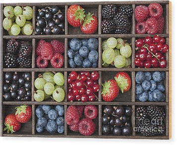 Berry Harvest Wood Print