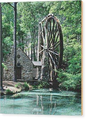 Berry' Old Mill In Pencil Wood Print by Johann Todesengel