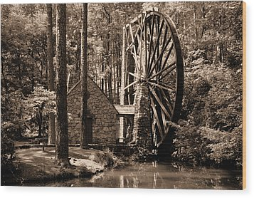 Berry's Old Mill In Sepia Wood Print by Johann Todesengel