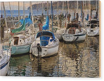 Berthed Wood Print by Ed Hall