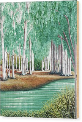 Beside Still Waters - Prints Of My Original Oil Paintings  Wood Print
