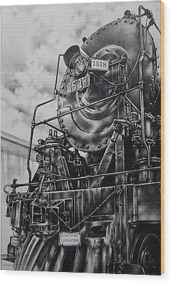 Beside The Floodwall Mikado 1518 Wood Print by Michael Lee Summers