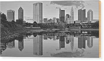 Wood Print featuring the photograph Best Columbus Black And White by Frozen in Time Fine Art Photography