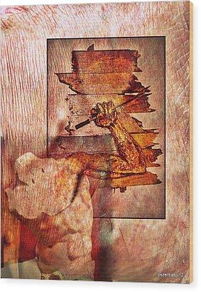 Best Defense Is Attack Wood Print by Paulo Zerbato