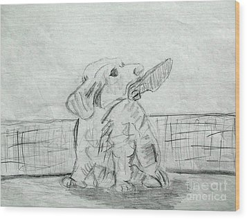 Best Friend 2 Wood Print by Julie Coughlin