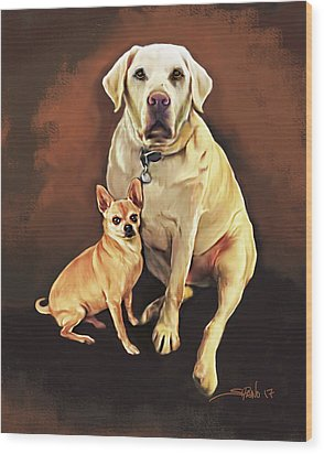 Best Friends By Spano Wood Print by Michael Spano