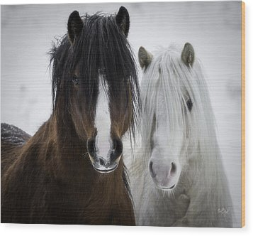 Best Friends II Wood Print by Everet Regal