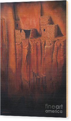 Betatakin Ruins Wood Print by Jerry McElroy