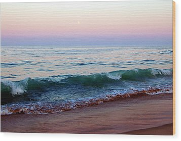 Bethany Pink Sunset Wood Print by Cara Moulds