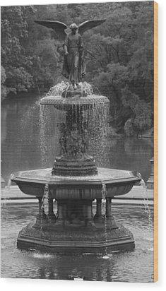 Bethesda Fountain Wood Print