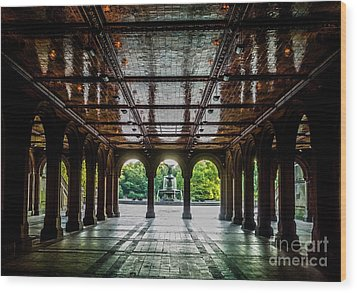 Bethesda Terrace Arcade 2 Wood Print by James Aiken