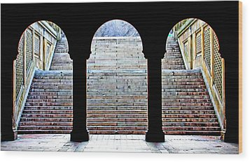 Bethesda Terrace Arcade Wood Print by Suzanne Stout