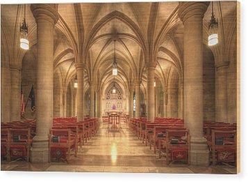 Bethlehem Chapel Washington National Cathedral Wood Print by Shelley Neff