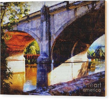 Wood Print featuring the photograph Bethlehem Pa Bridge - Tunnel Vision by Janine Riley