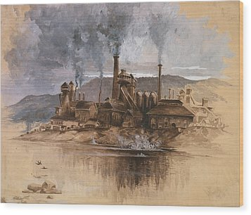 Bethlehem Steel Works In May 1881 Wood Print by Everett