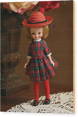 Betsy Doll Wood Print by Marna Edwards Flavell