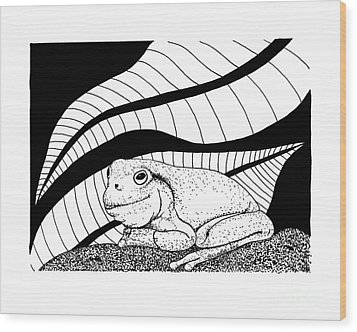 Betsy's Frog Wood Print