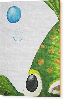 Betta Bubble Wood Print by Oiyee At Oystudio