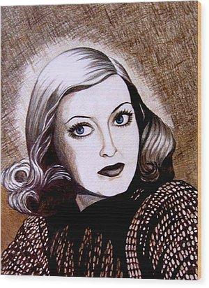 Bette Davis 1941 Wood Print