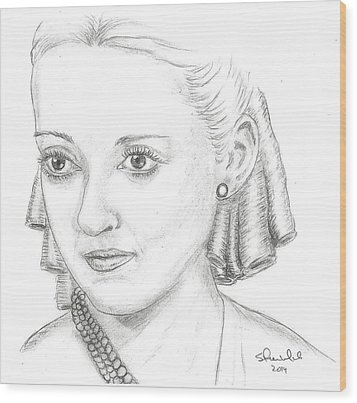 Bette Davis Wood Print by Steven White