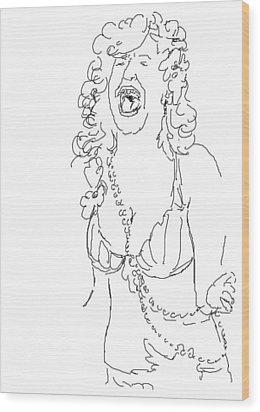Bette Midler Wood Print